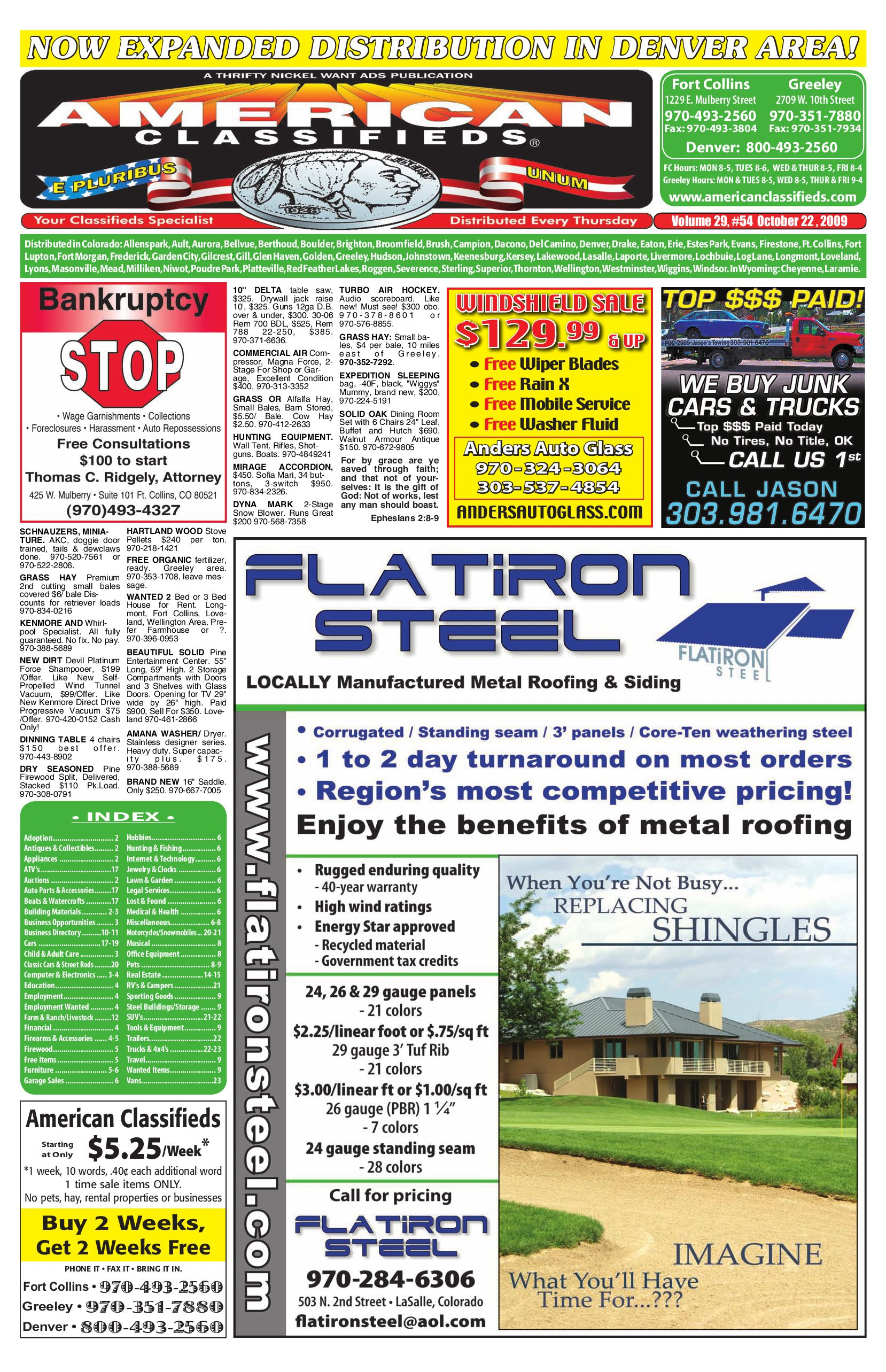 Front Range American Classifieds 10 22 09 By Thrifty Nickel Of Hp Briggs And Stratton Carburetor Diagram Tattoo Pictures Northern Colorado Issuu