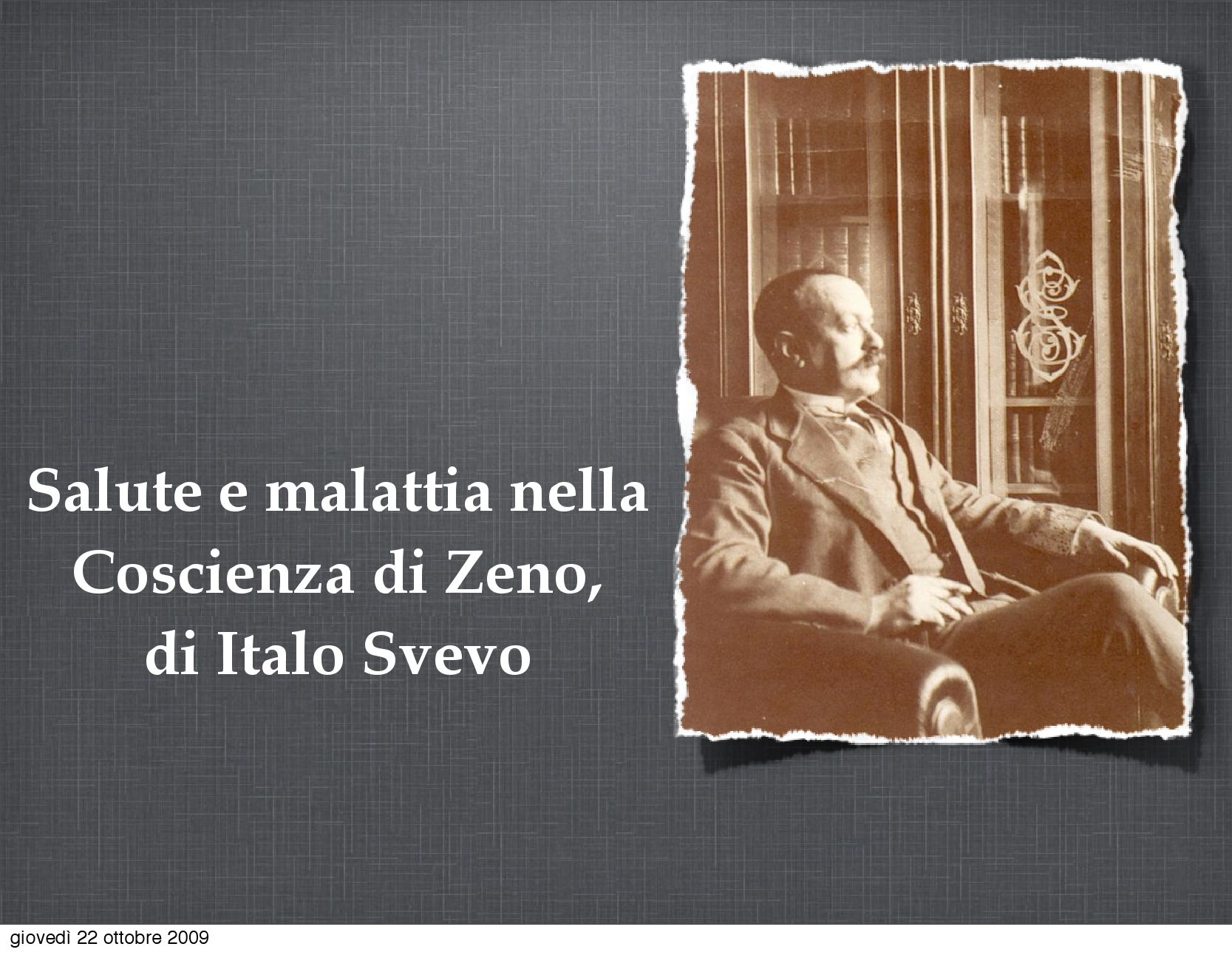 Salute E Malattia Nella Coscienza Di Zeno Di Italo Svevo By Luca