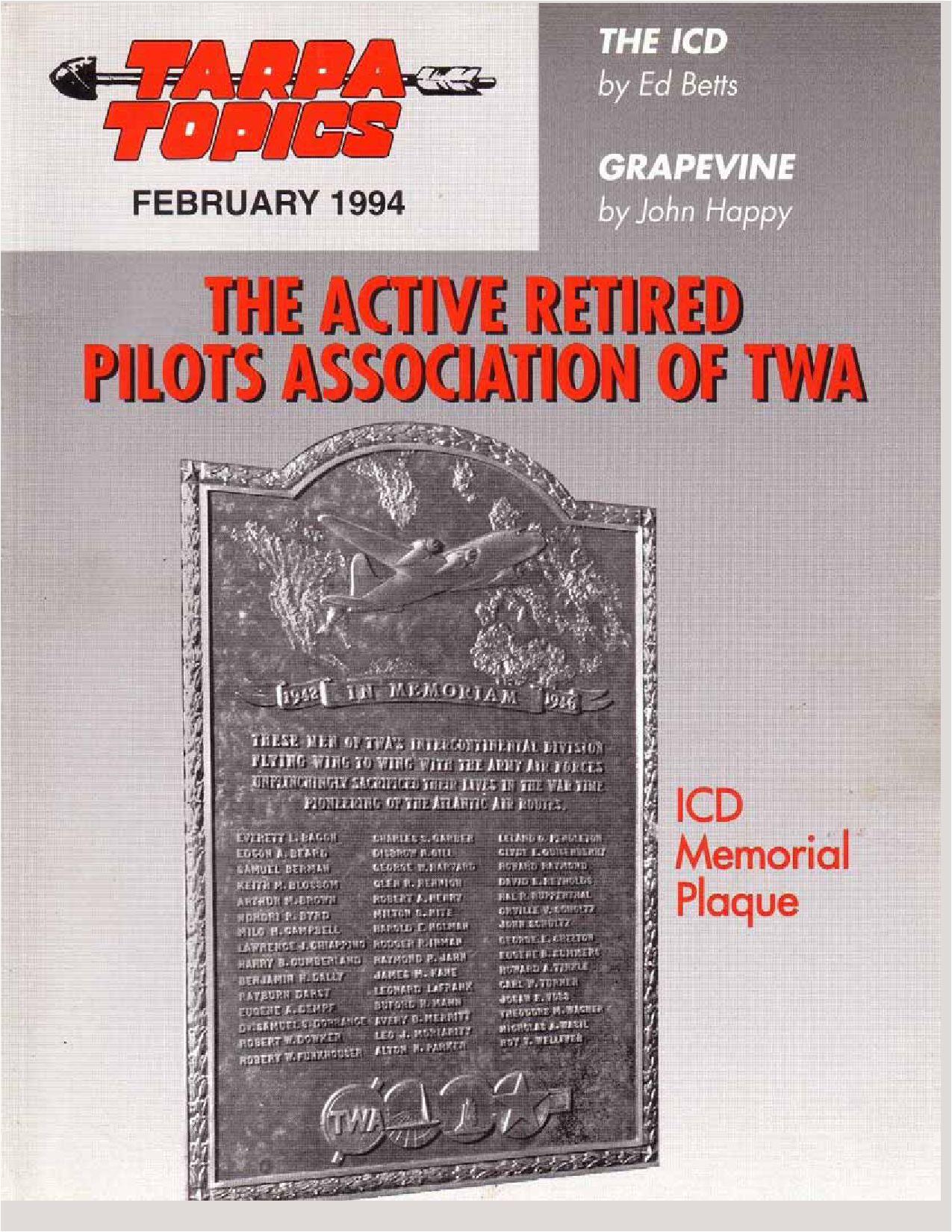 7914c94df5b 1994.02.TARPA TOPICS by TWA Active Retired Pilots Assn. - issuu
