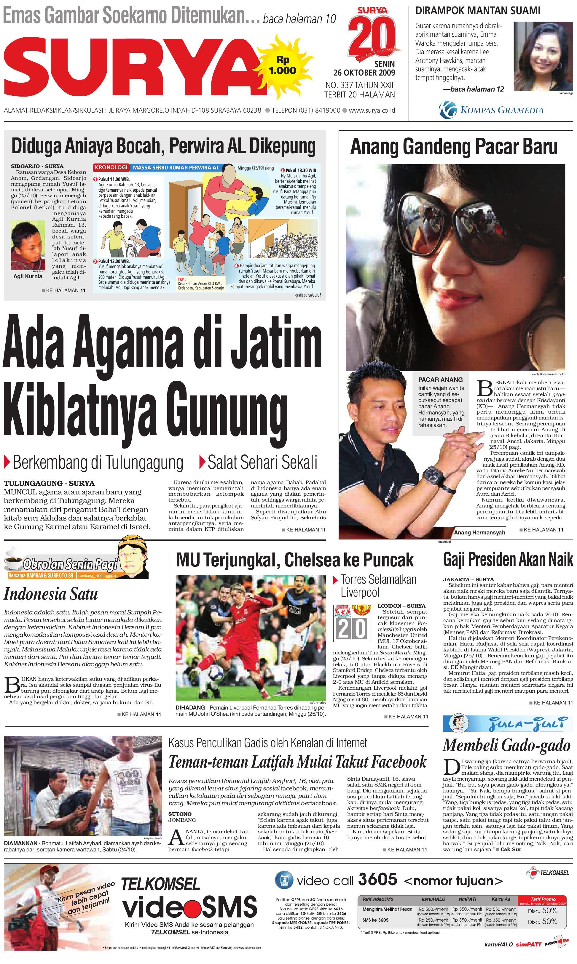 Surya Edisi Cetak 26 Okt 2009 by Harian SURYA - issuu 95596efba7