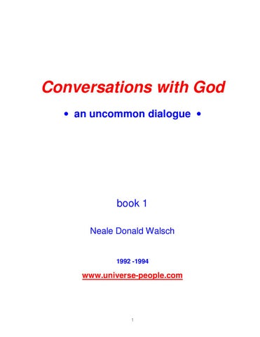 Neale Donald Walsch Conversations With God Volume 1 By Abrham