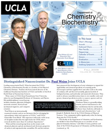 Fall 2009 Newsletter by UCLA Department of Chemistry & Biochemistry