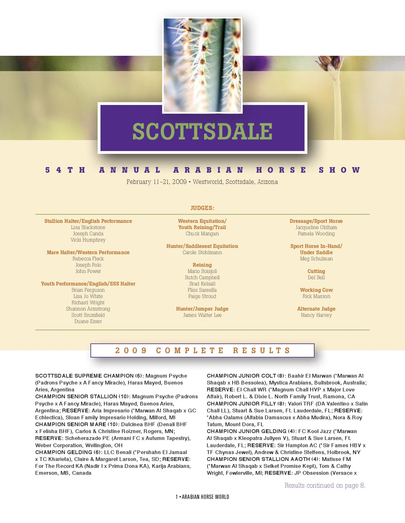 2017 Scottsdale Show Program Complete By Arabian Horse Times Issuu Charles Jourdan 1018 1333c Silver Ring Rosegold Plat Hitam