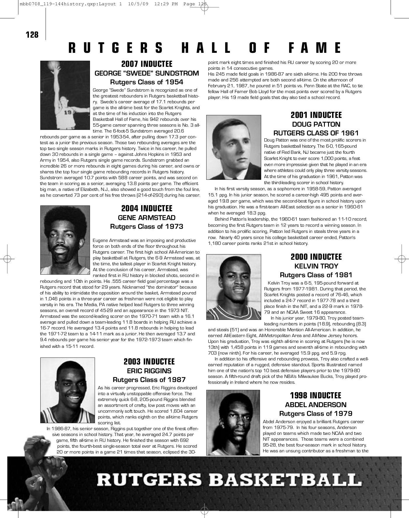 2009 10 Rutgers Mens Basketball Media Guide