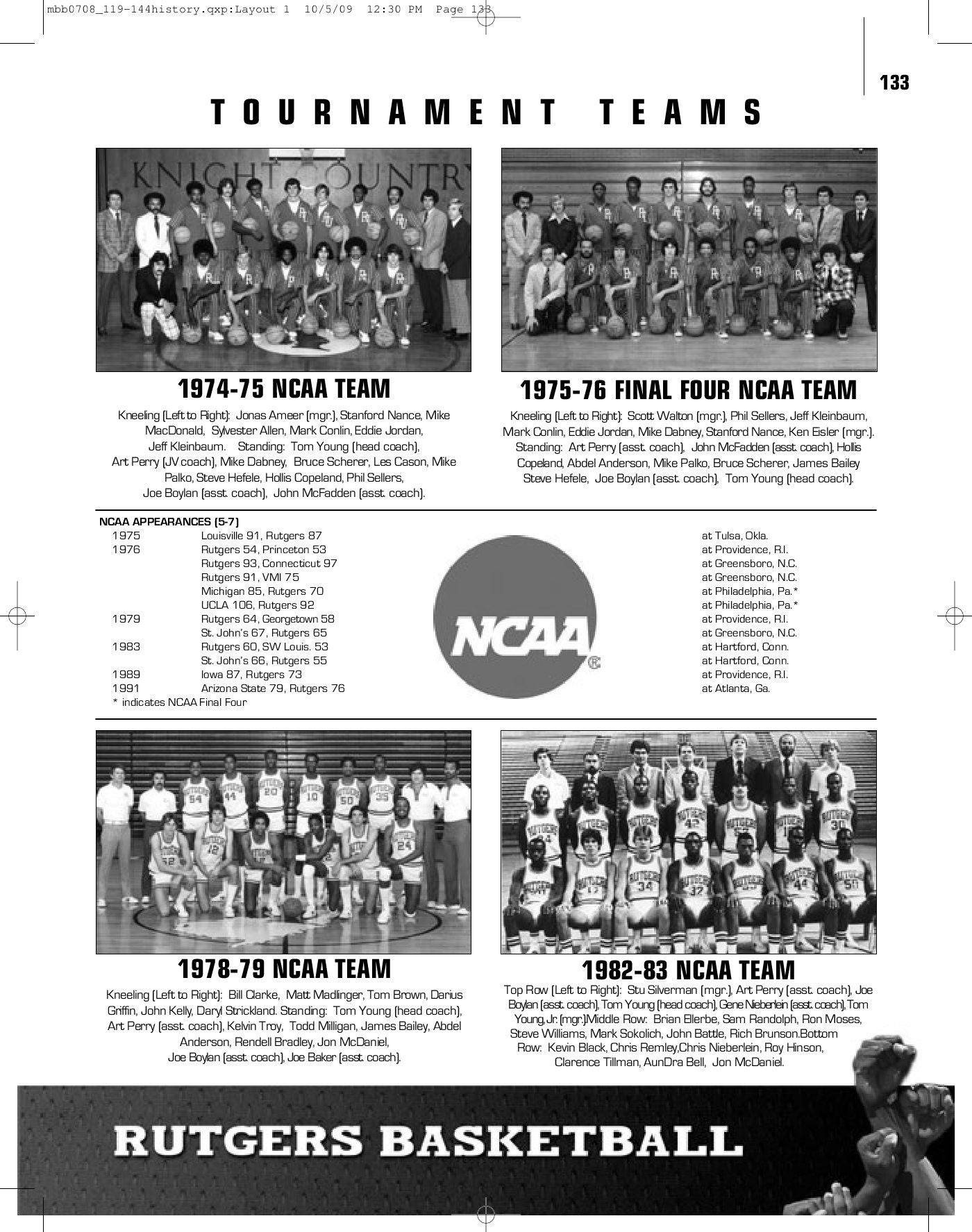 2009 10 Rutgers Mens Basketball Media Guide By Athletics
