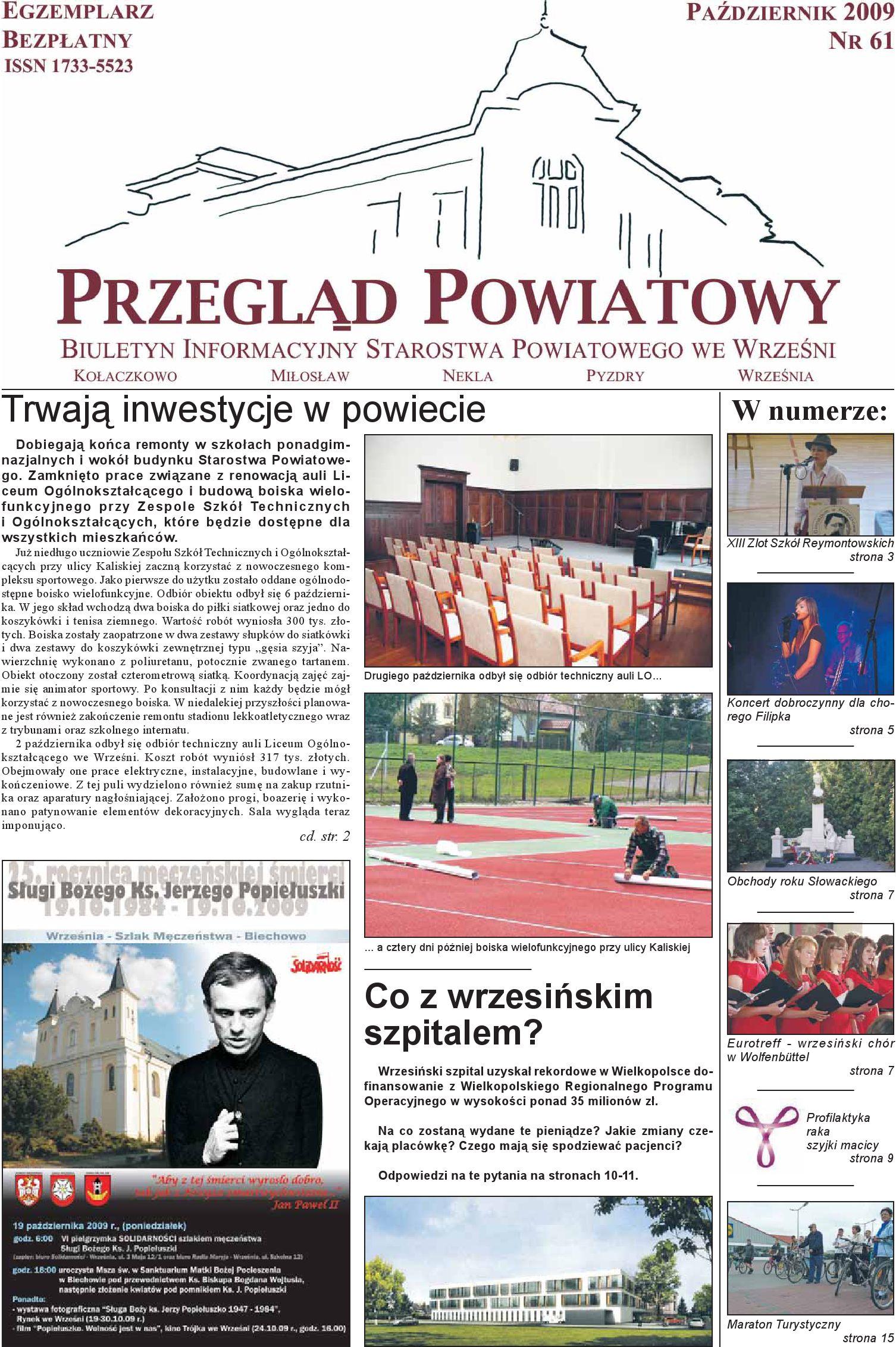 Przegląd Powiatowy Nr 61 Październik 2009 By Starostwo