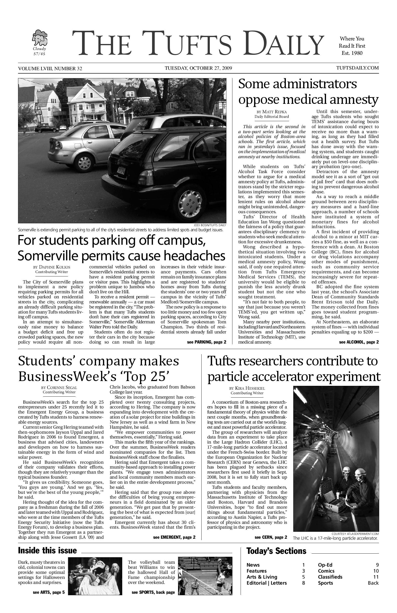 2009-10-27 by Tufts Daily - issuu