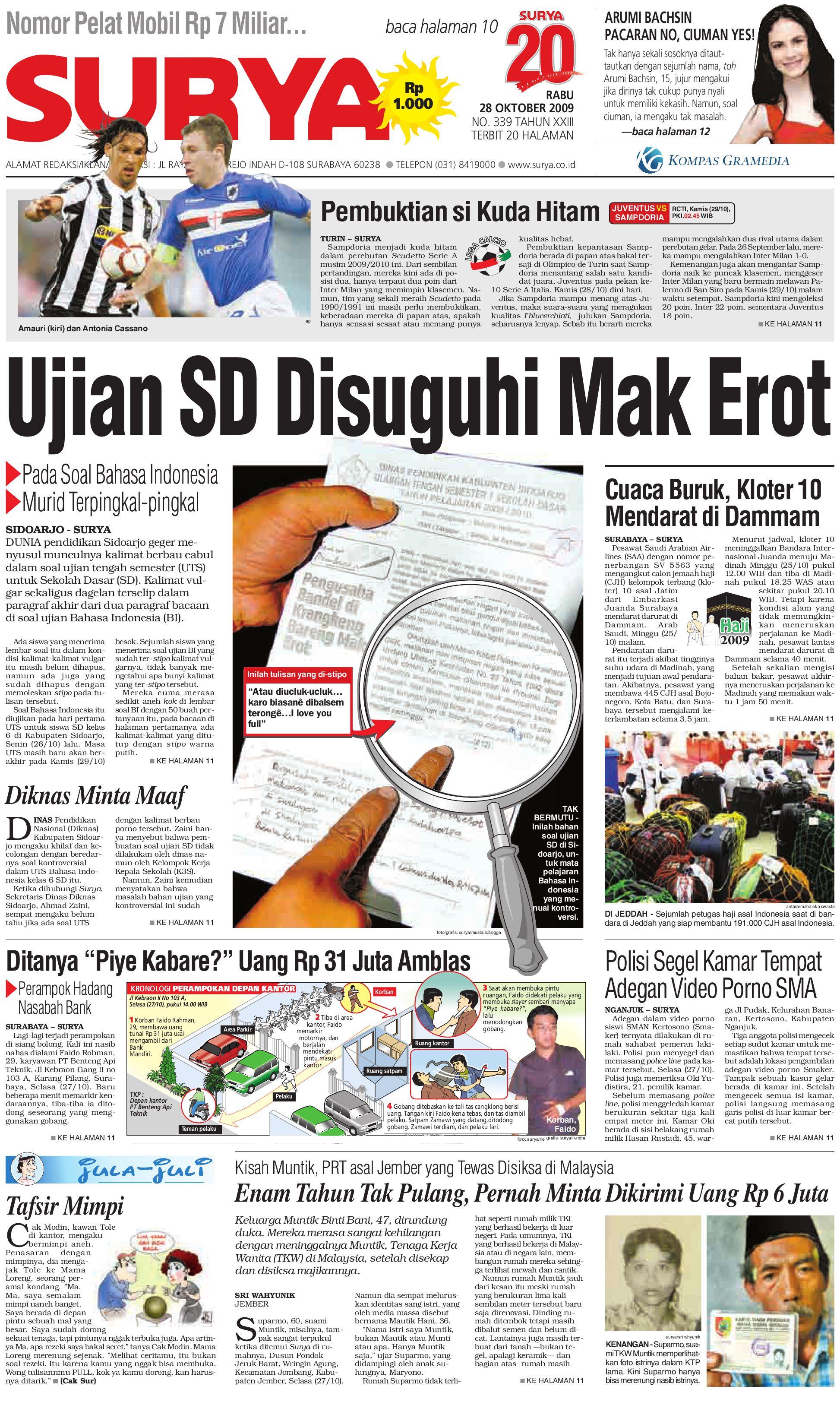 Surya Edisi Cetak 28 Okt 2009 By Harian Issuu Produk Ukm Bumn Baju Muslim Anak Laki Dannis Nomor 10 Abu