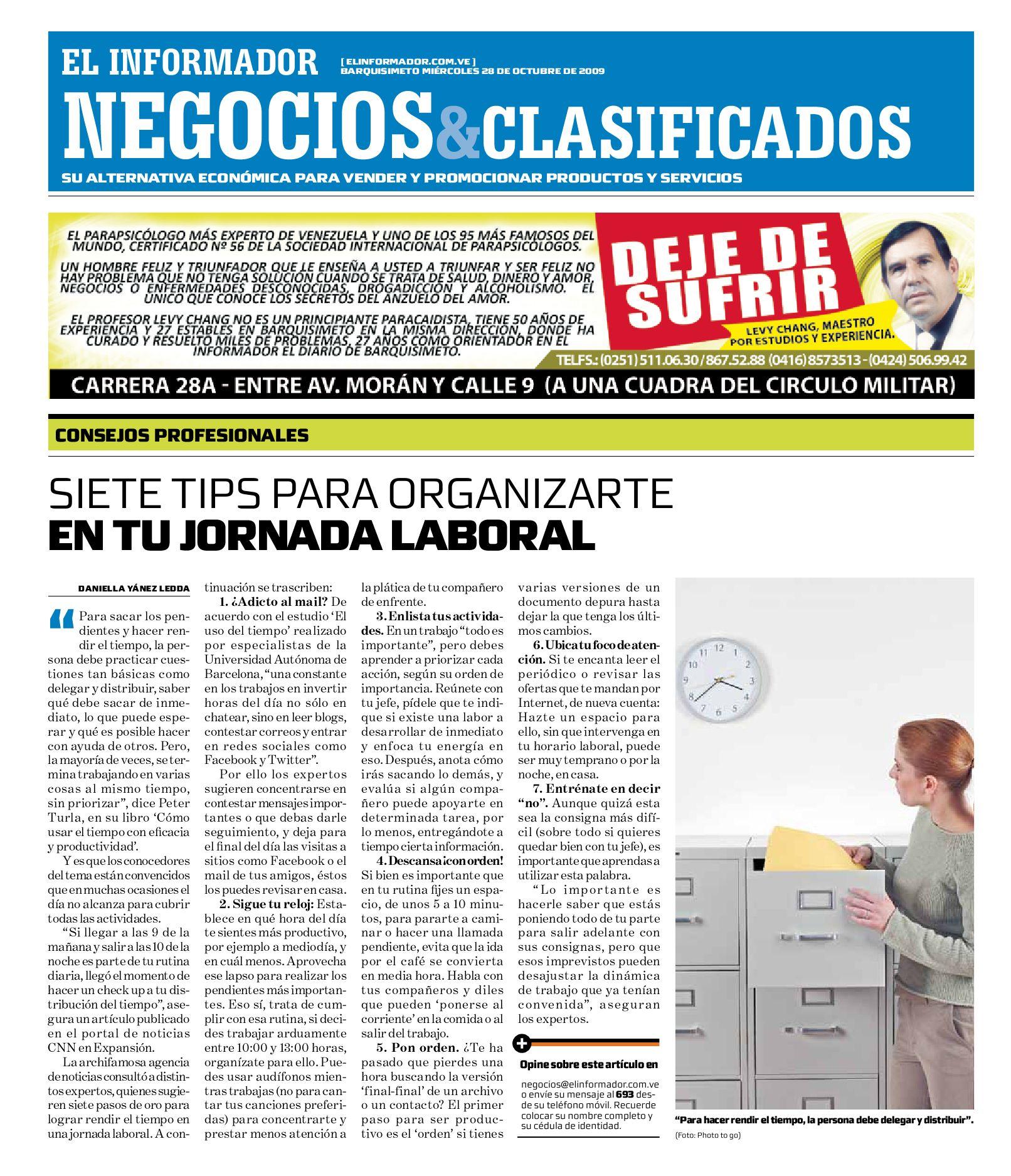 negocios y clasificados 2009.10.28 by El Informador - Diario online ...