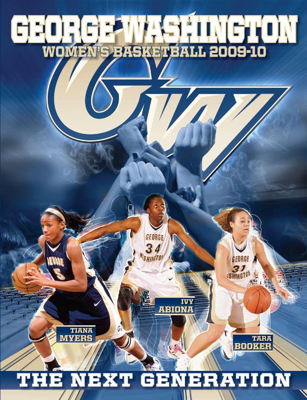 2009 10 Gw Women S Basketball Media Guide By Jesse Hooker