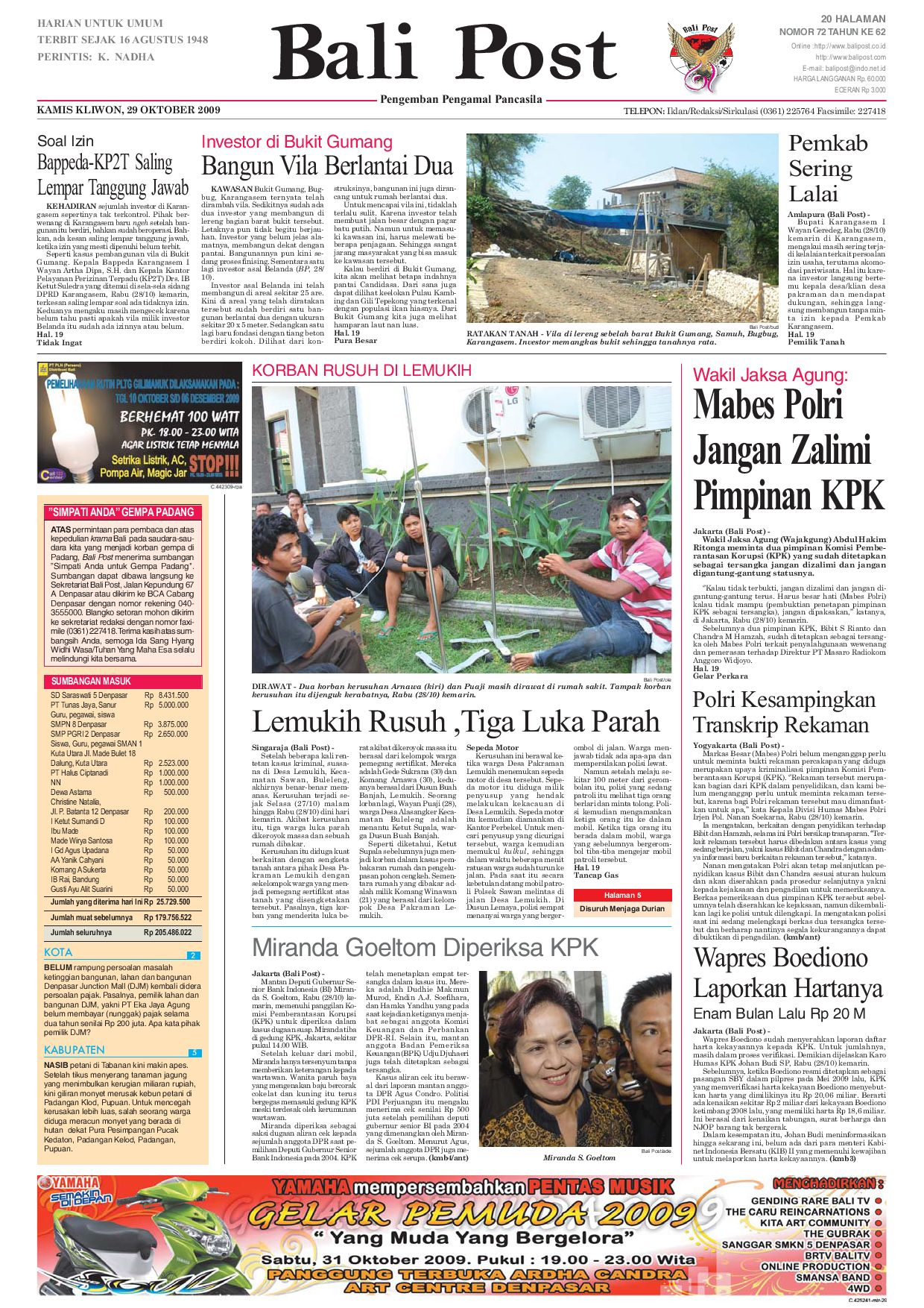 Edisi 29 Oktober 2009 Balipostcom By E Paper Kmb Issuu Lg Kulkas Inverter Gn M572hphl 178cm Putih Bunga Khusus Jabodetabek