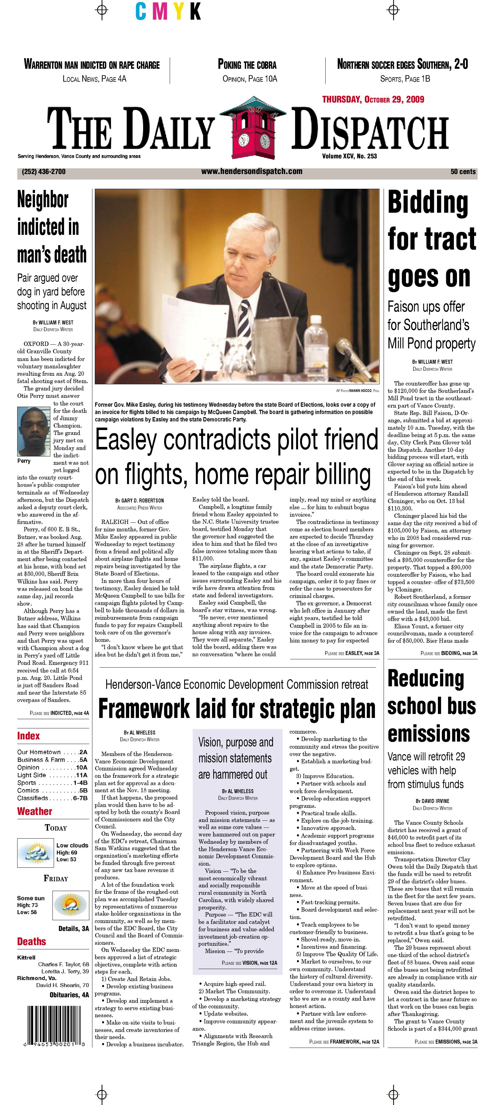 Henderson Daily Dispatch Obituaries >> The Daily Dispatch - Thursday, October 29, 2009 by The Daily Dispatch - Issuu