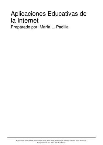 Aplicaciones educativas de la internet by maria padilla issuu page 1 urtaz Choice Image