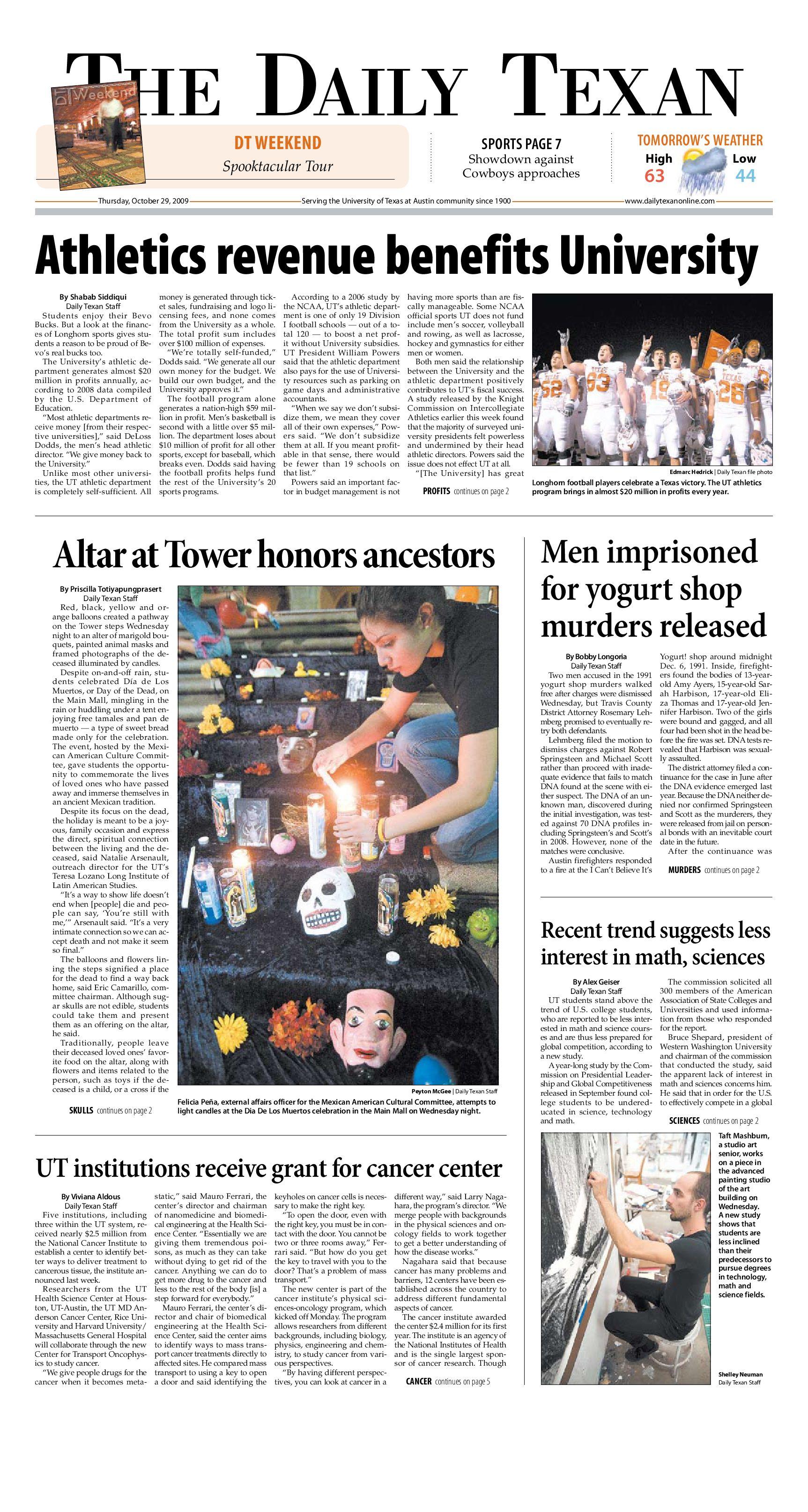 Daily Texan 10-29-09 by The Daily Texan - issuu