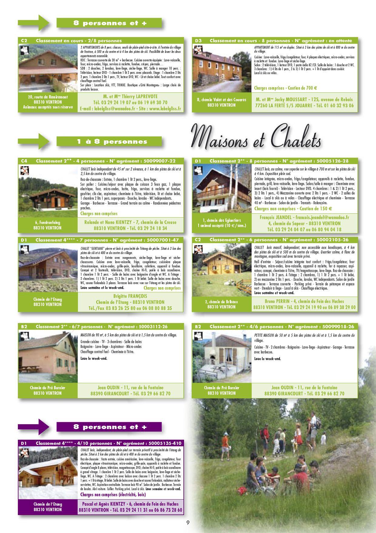 Hebergements by office de tourisme ventron issuu - Office de tourisme ventron ...