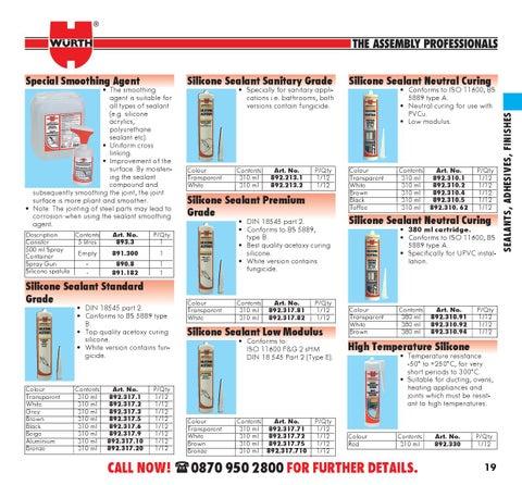 catalogue sealants adhesives finishes
