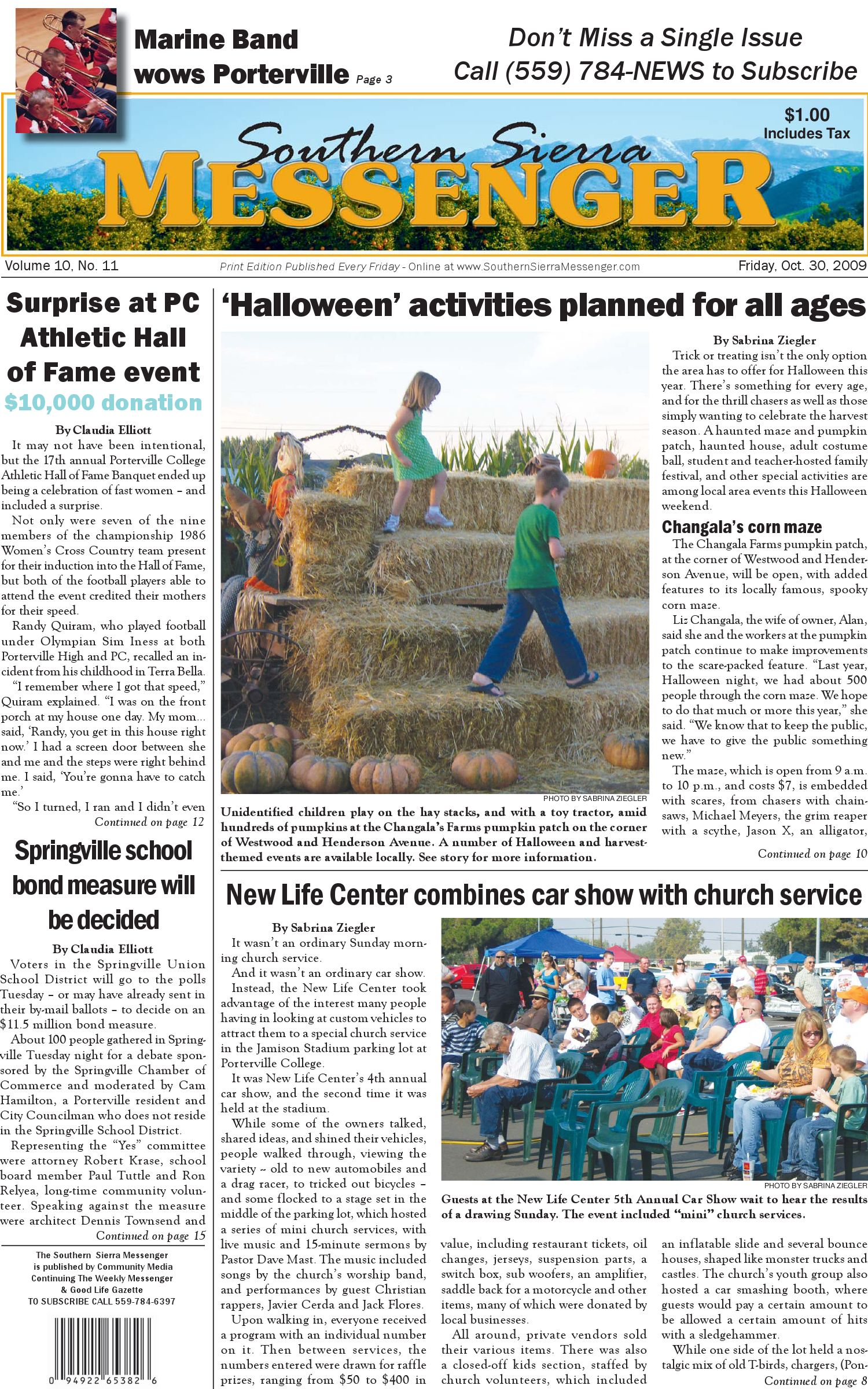 Southern Sierra Messenger, issue of 10/30/09 by Community