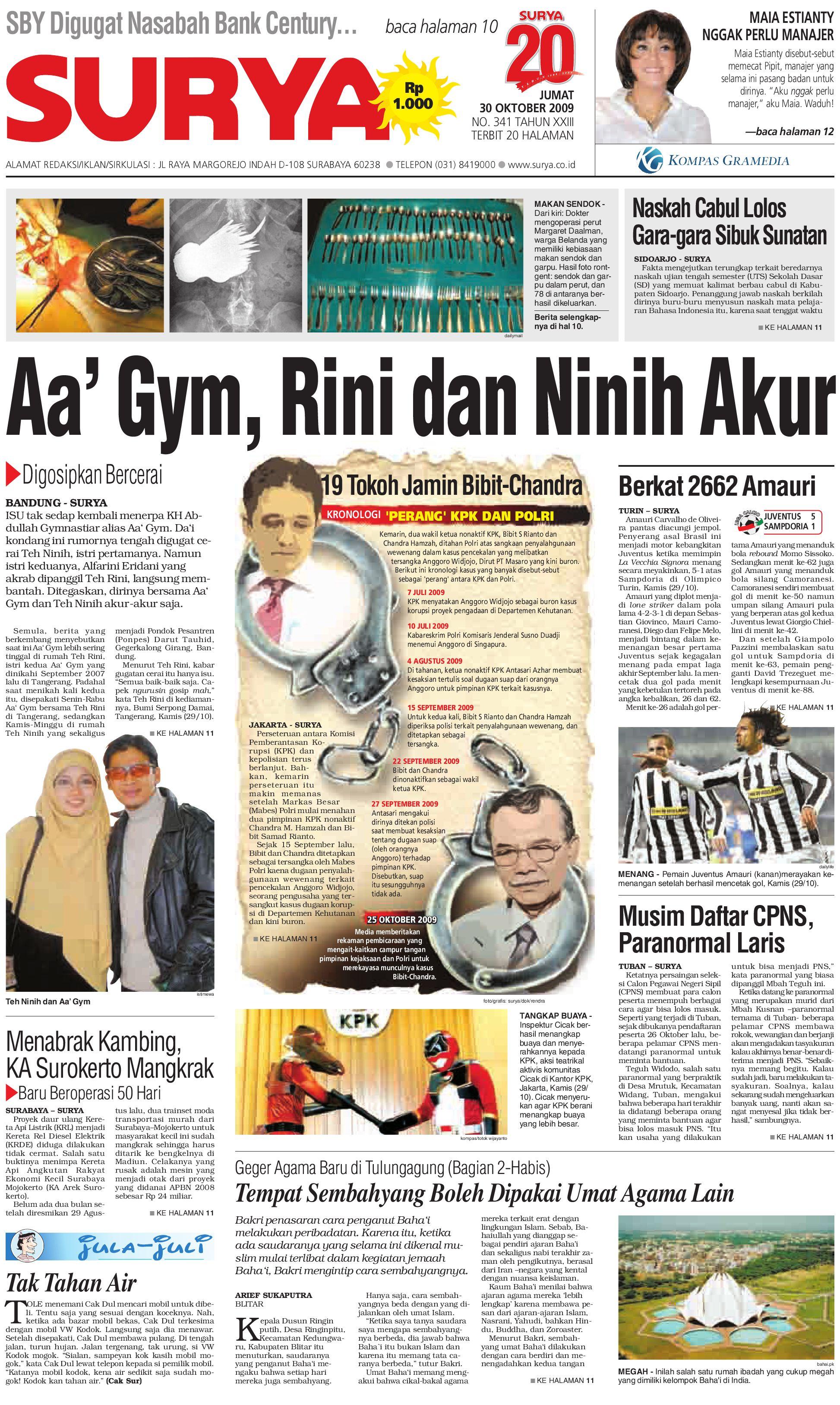 Surya Edisi Cetak 30 Okt 2009 By Harian Issuu Rejeki Anak Soleh 3 Agip 4t Super 1l
