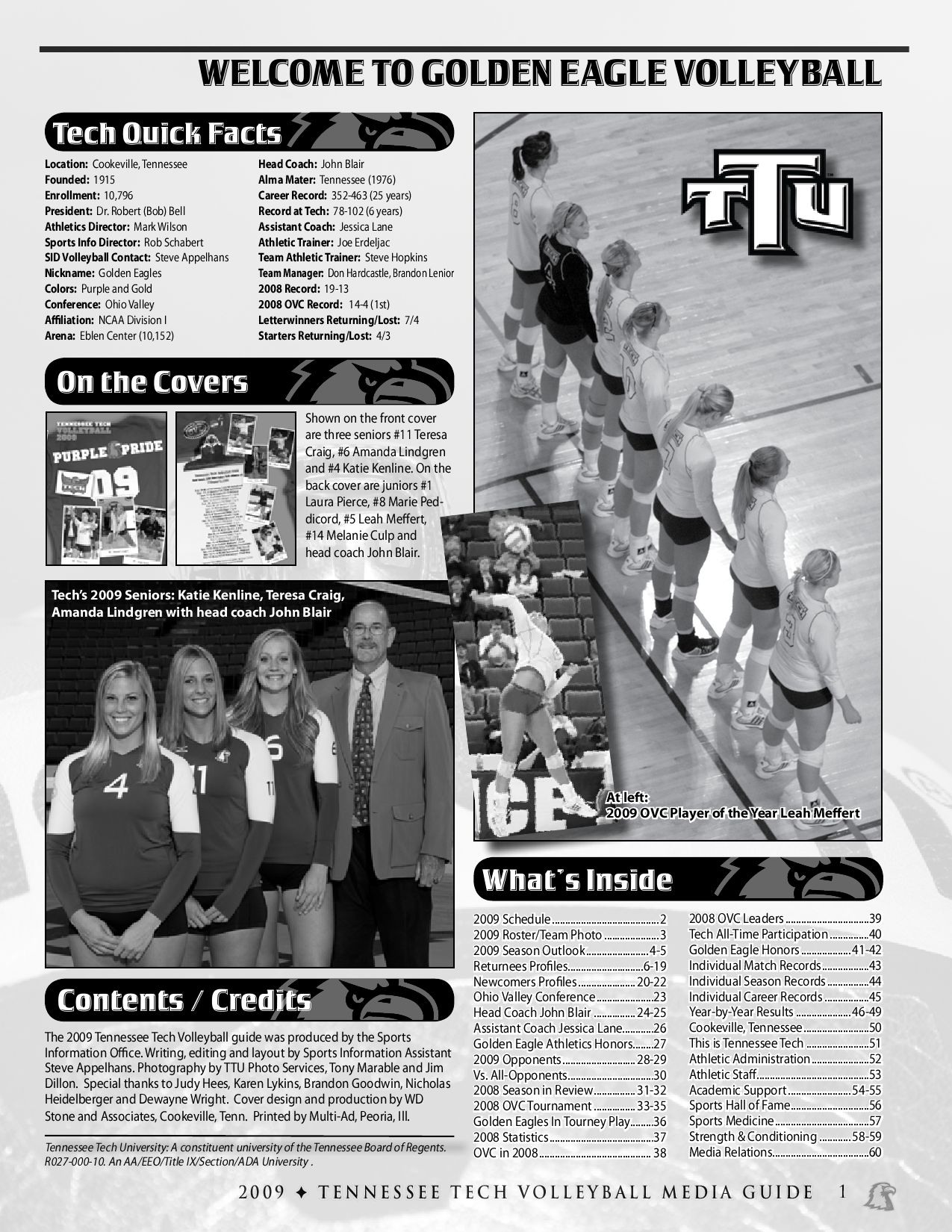 2009 Tennessee Tech Volleyball Media Guide by Tennessee Tech Sports  Information - issuu