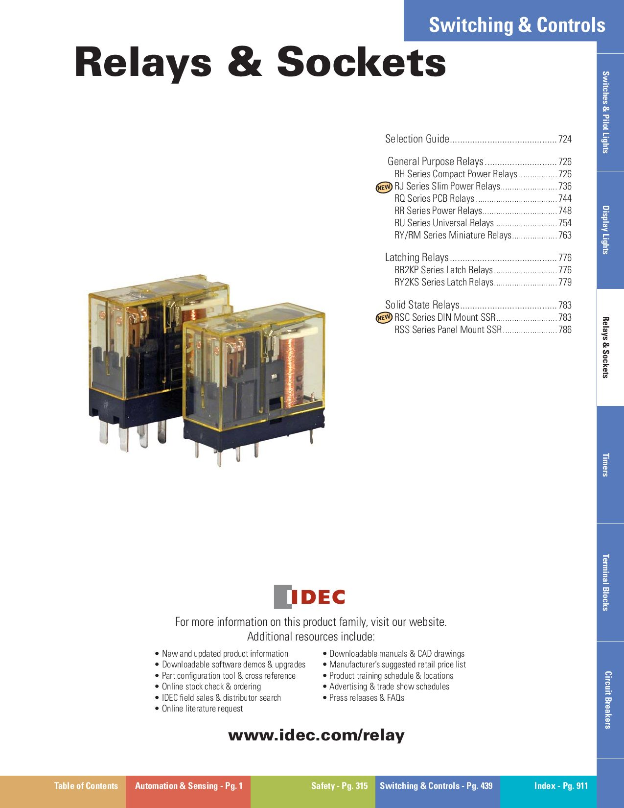IDEC Relays by SYNsCON - issuu on idec relay rh1b ul, idec rh1b-u, idec control relay, idec relay base,