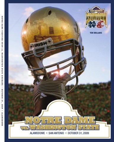2009 Notre Dame Football Game Program Washington State By Chris