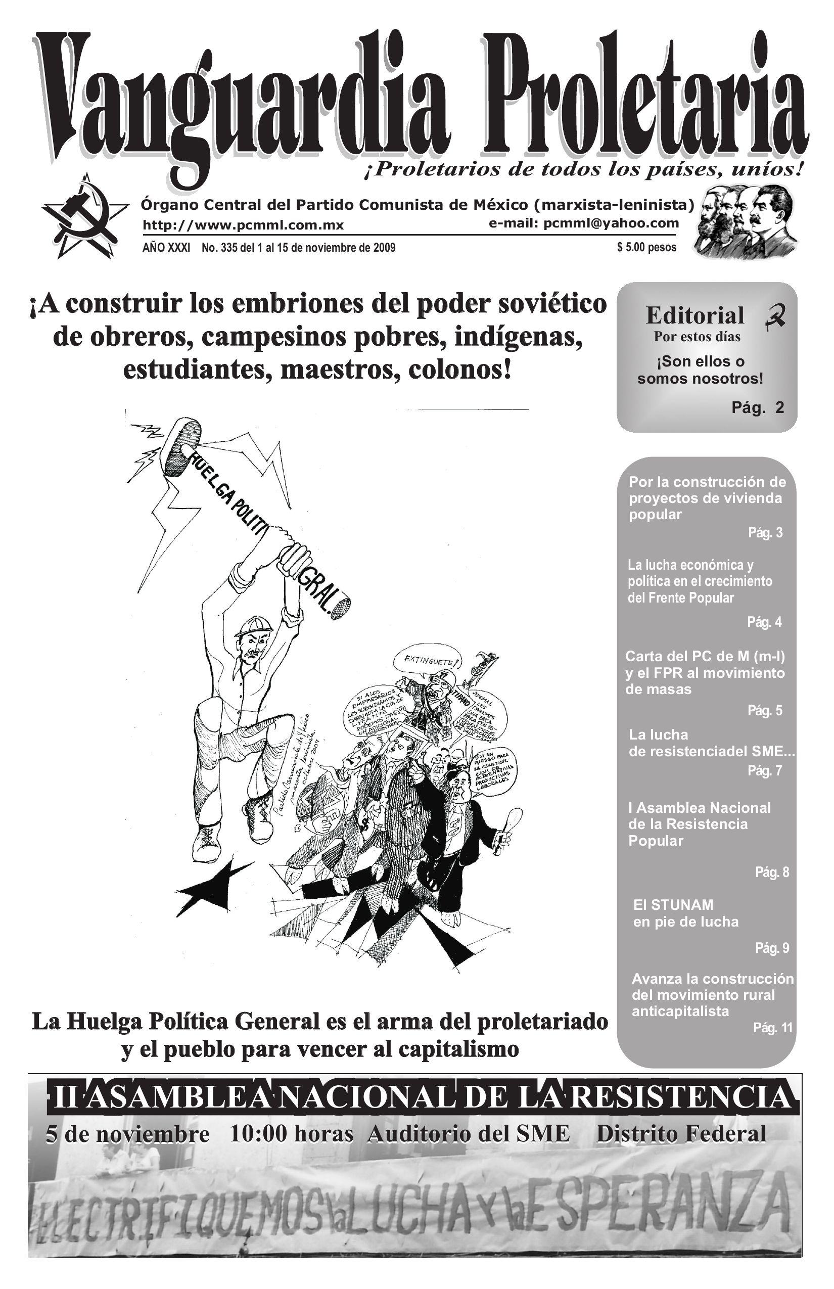 vanguardia proletaria 335 by vanguardia proletaria