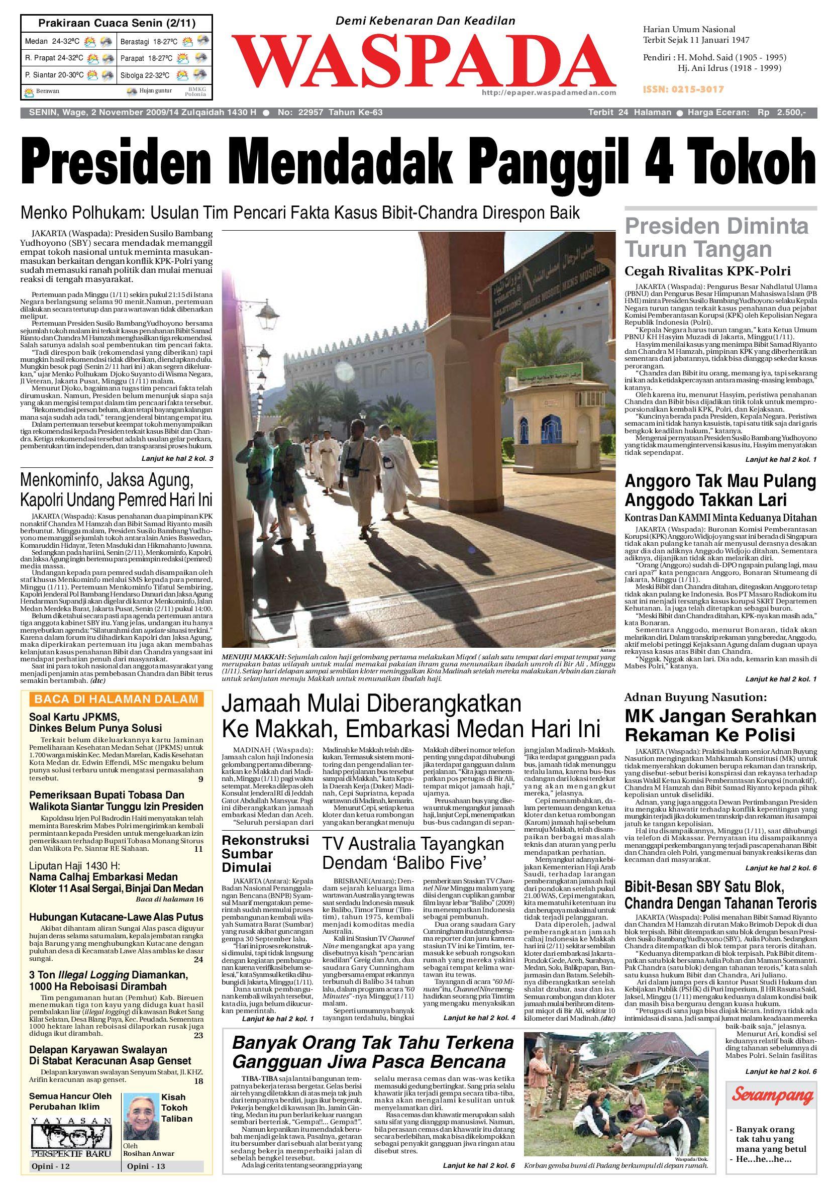 Waspada Senin 2 November 2009 By Harian Waspada Issuu