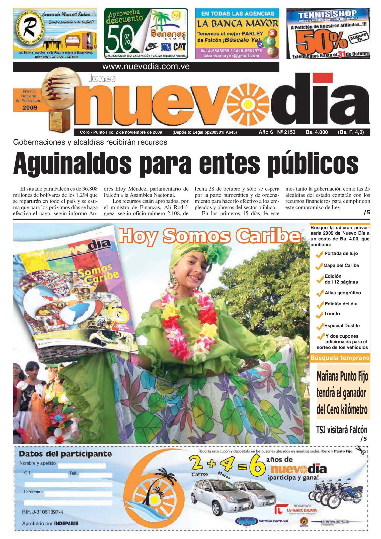 Diario Nuevodia Lunes 02-11-2009 by Diario Nuevo Día - issuu