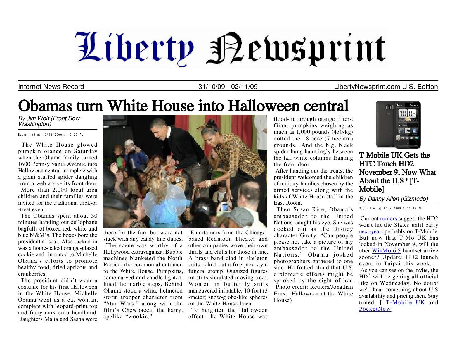 Liberty Newsprint Nov-2-09 Edition by Liberty Newspost - issuu
