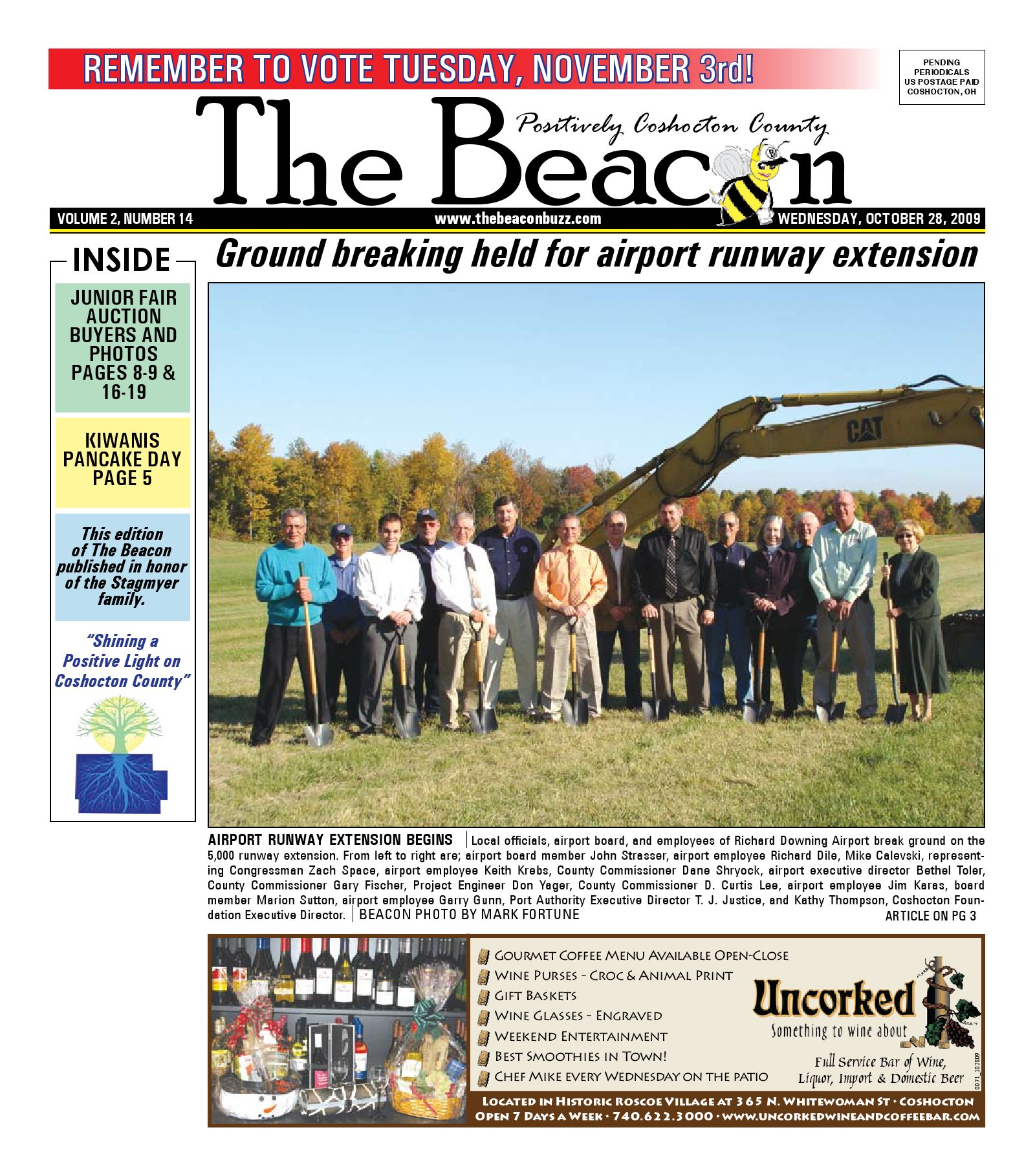 October 28 2009 Coshocton County Beacon by The Coshocton County