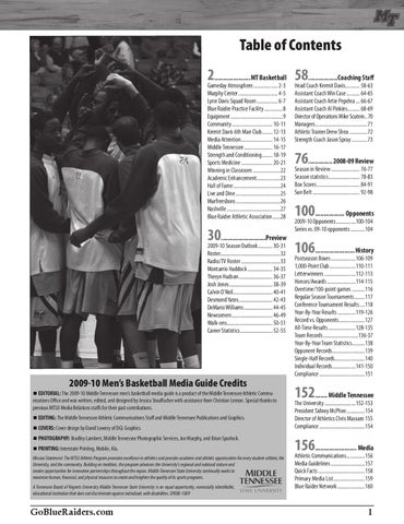 2009-10 Men s Basketball Media Guide by Middle Tennessee State ... ef299f17f2