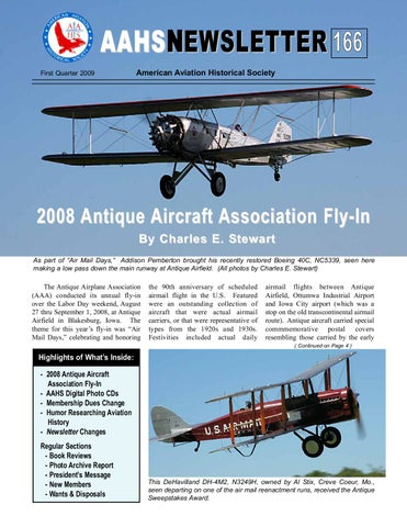 Aahs Newsletter 166 Q1 2009 By American Aviation