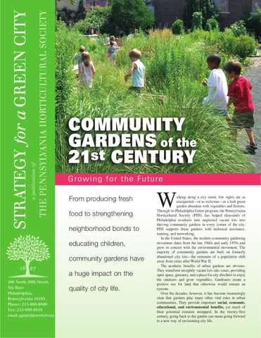 21st Century Community Gardens By Pete Prown Issuu