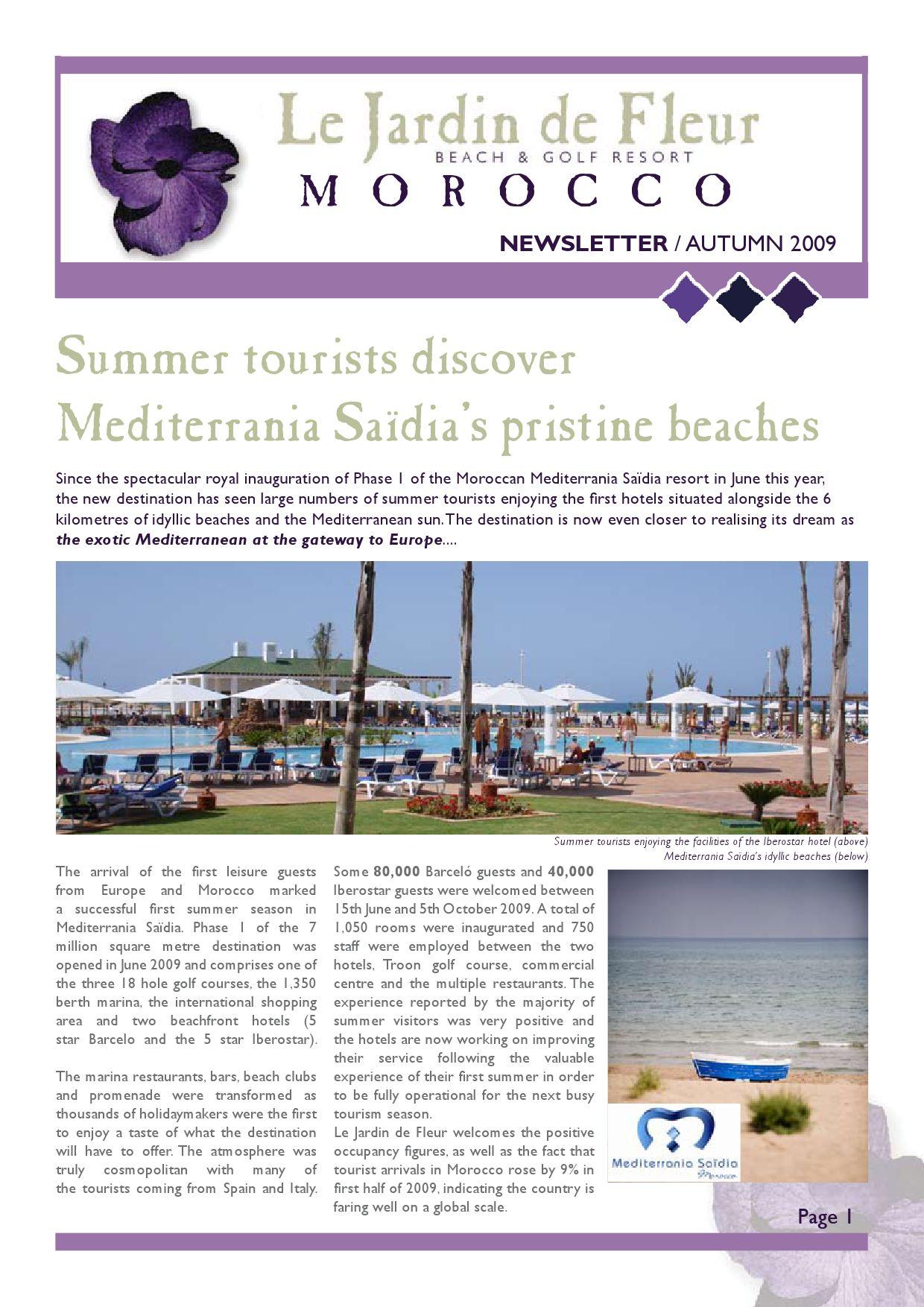 Autumn 09 Newsletter LJDF Morocco by Le Jardin de Fleur ...