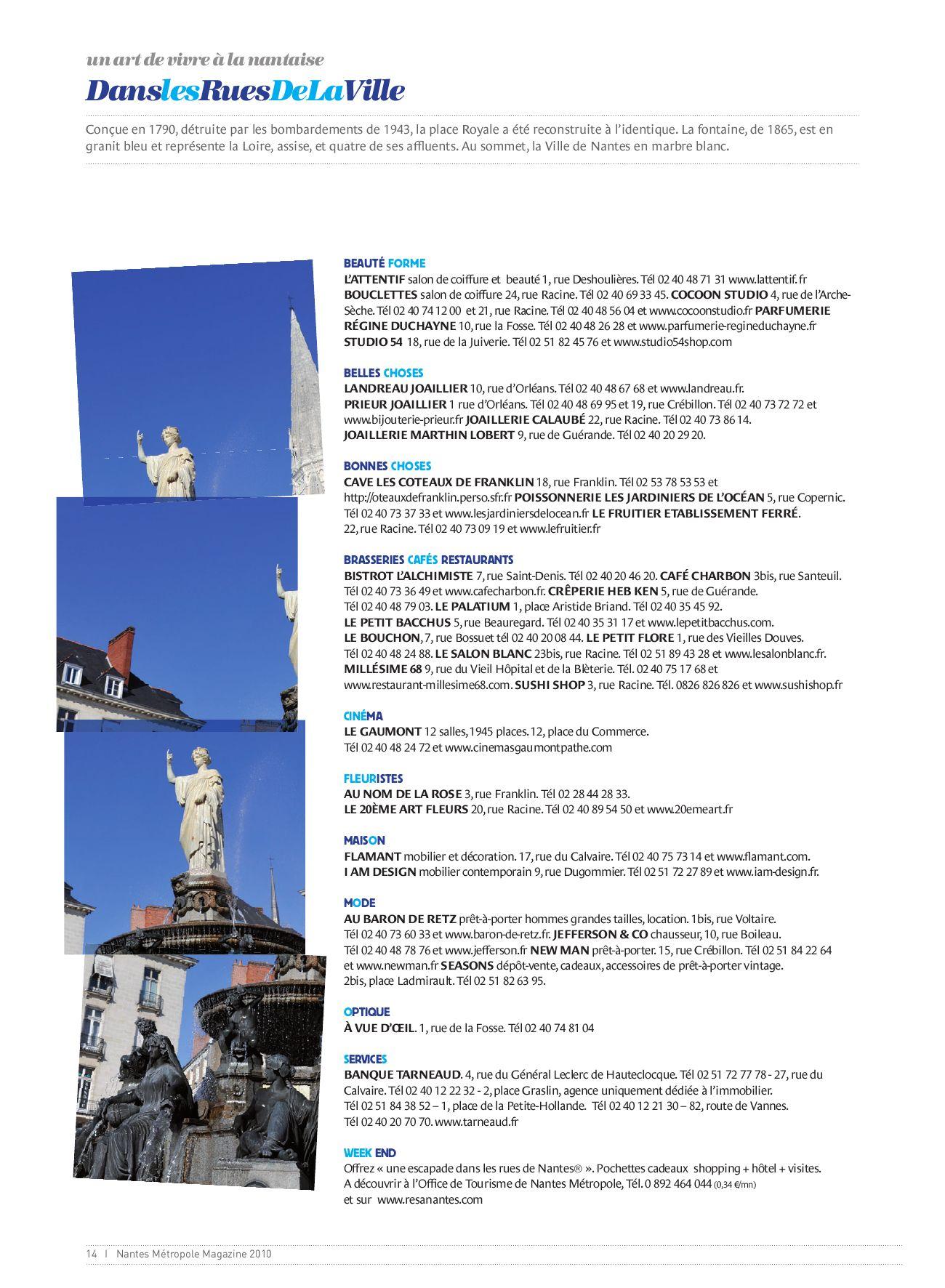 Agence Franklin Nantes nantes metropole magazine 2010les Éditions du privilège - issuu