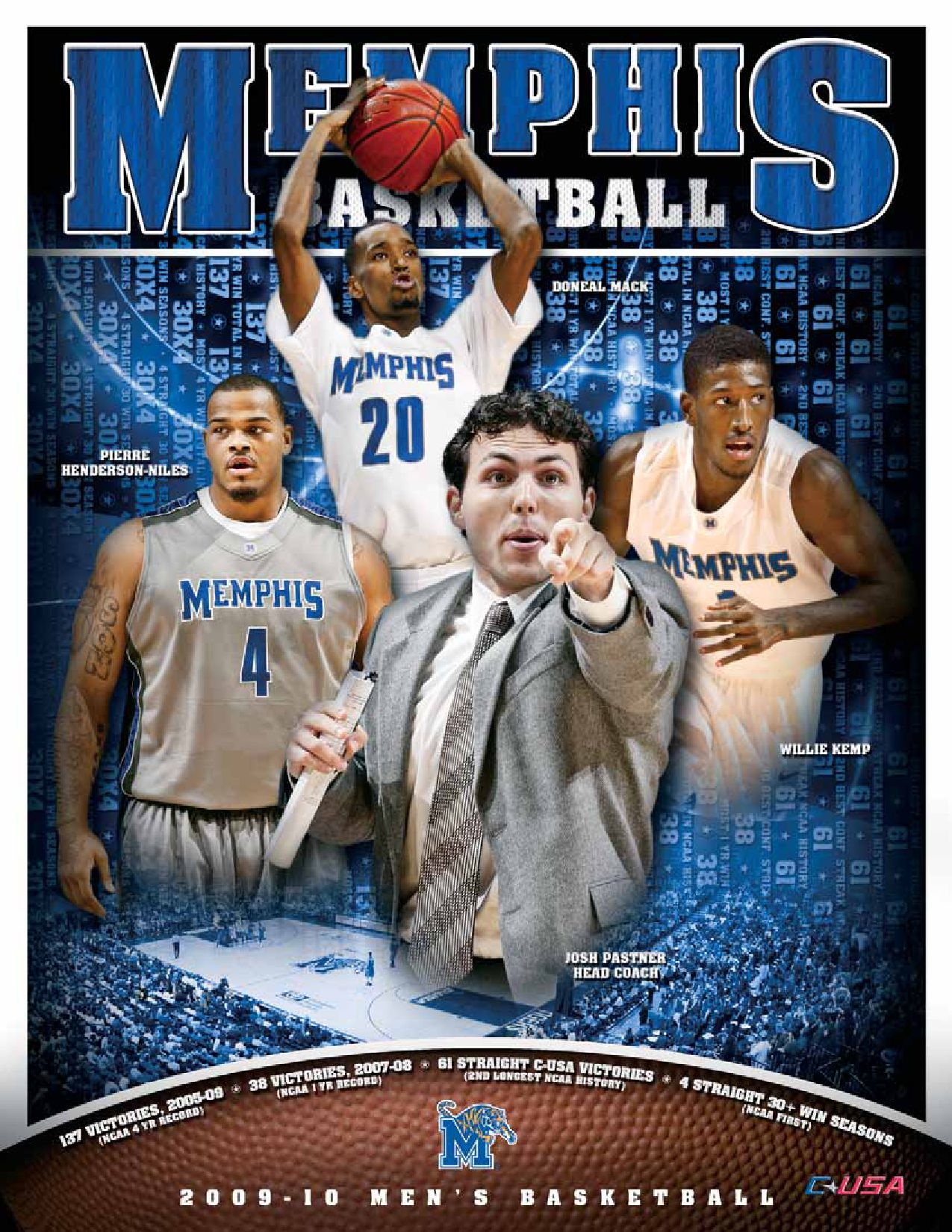 a1908fa3792b 2009-10 Memphis Men s Basketball Information Guide by University of Memphis  Athletic Media Relations - issuu