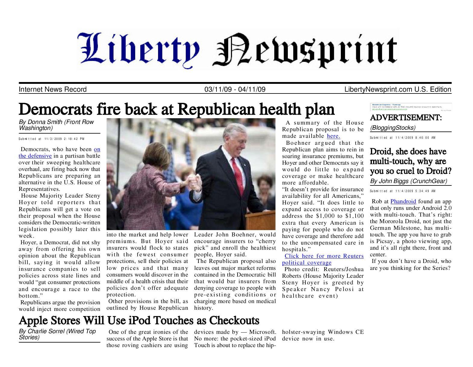 Liberty Newsprint Nov-4-09 by Liberty Newspost - issuu