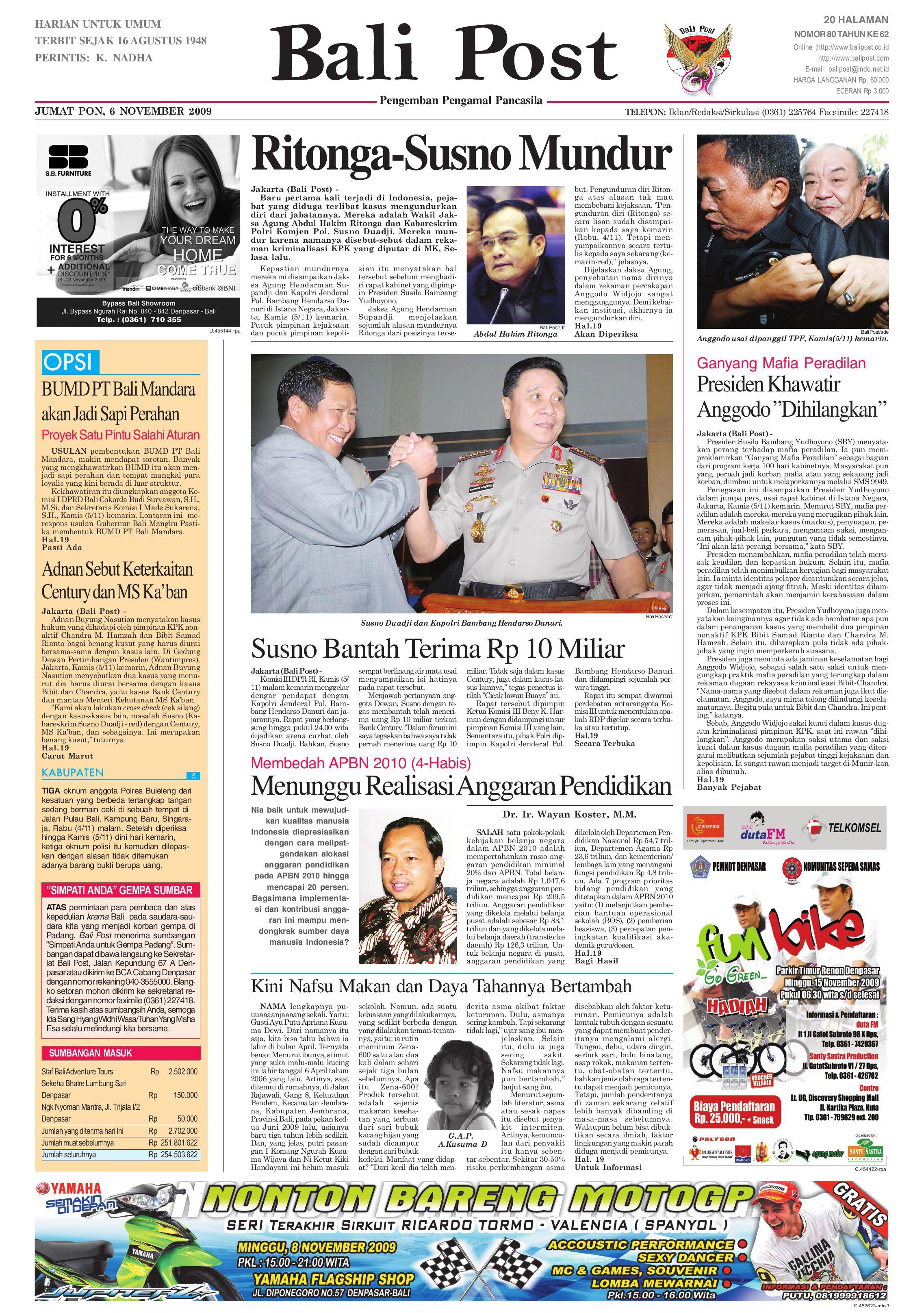 Edisi 06 November 2009 Balipostcom By E Paper Kmb Issuu Lg Kulkas Inverter Gn M572hphl 178cm Putih Bunga Khusus Jabodetabek
