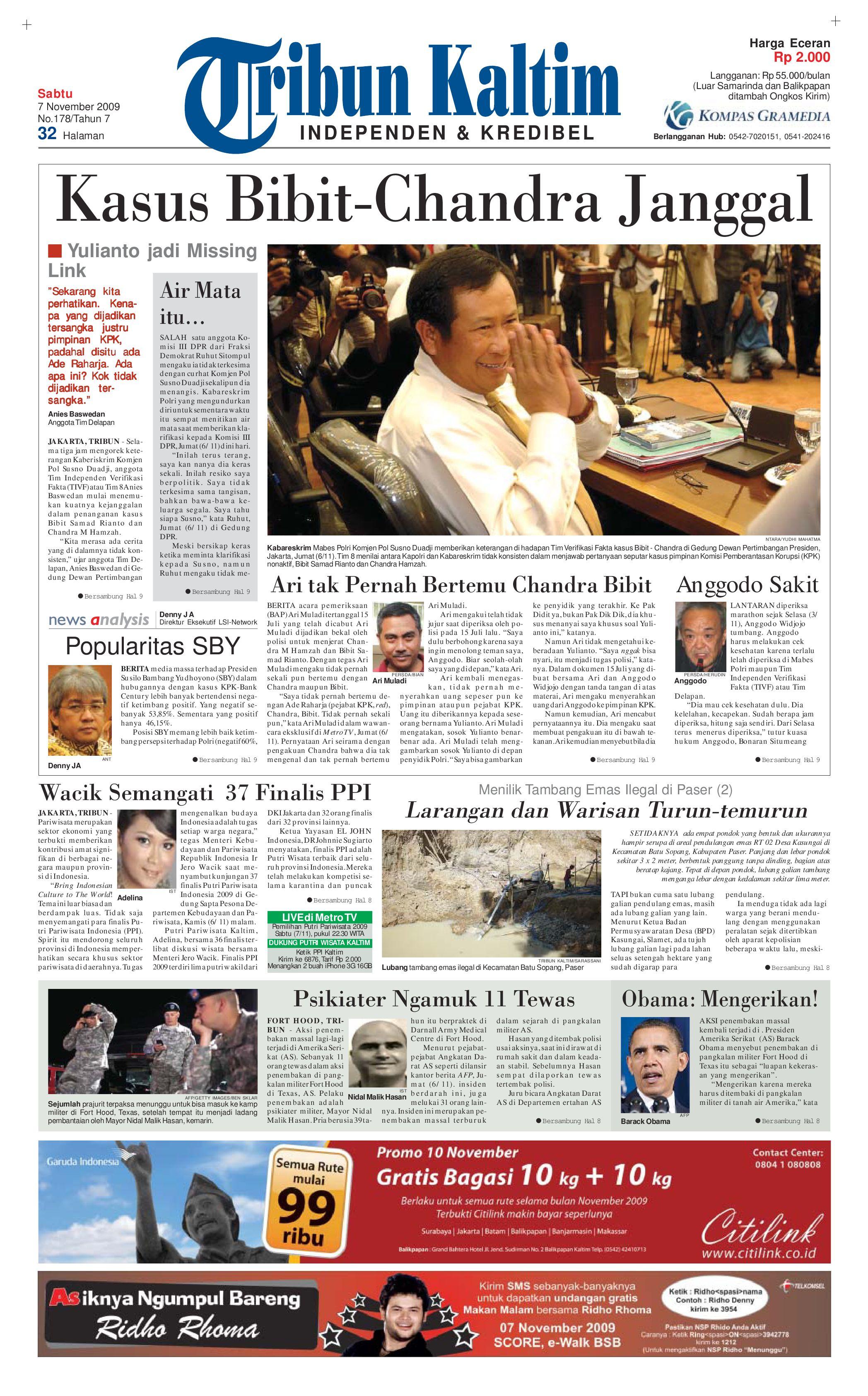 TRIBUNKALTIM - 07 NOVEMBER 2009 by tohir tribun - issuu a581b5c1ea862