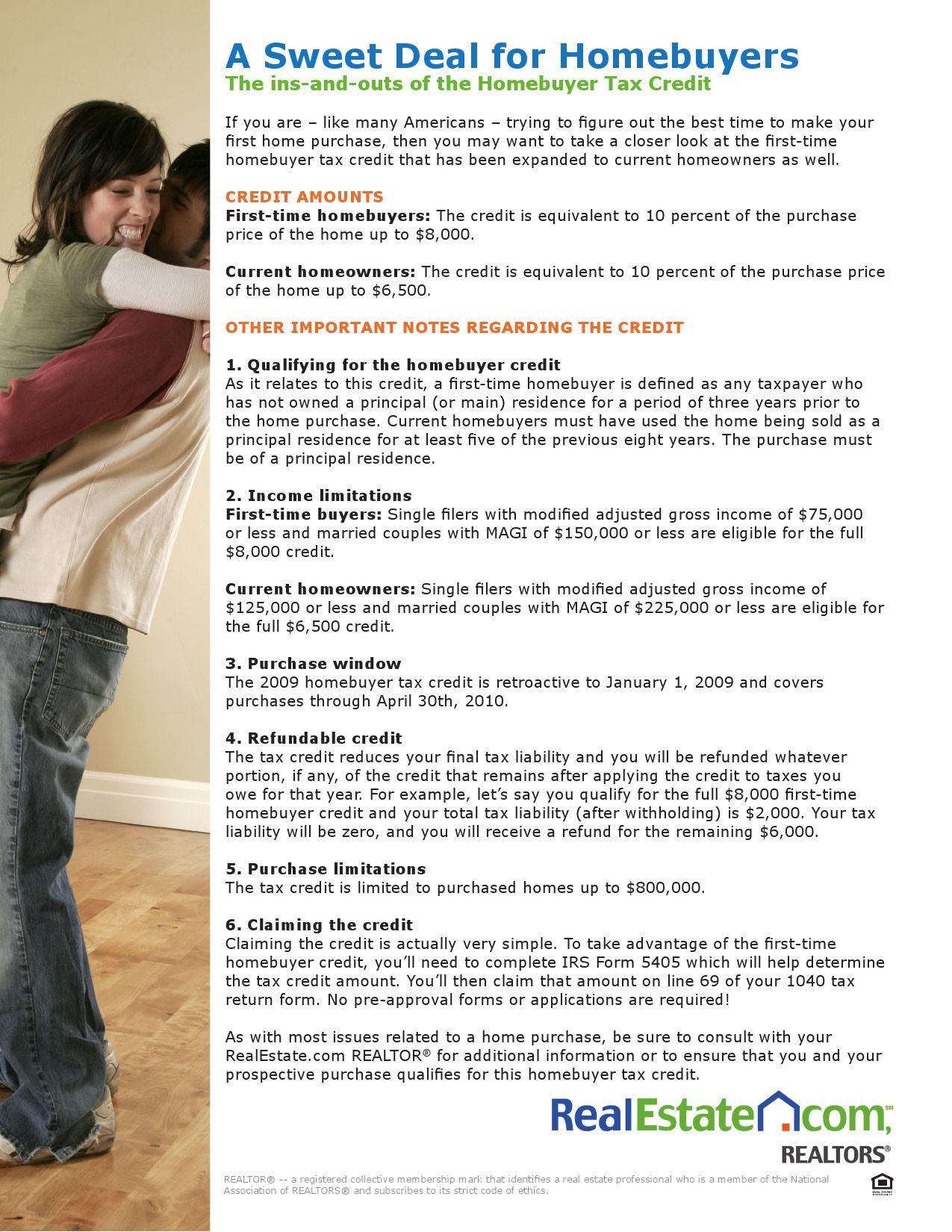 Homebuyers Tax Credit By Deborah Adams Issuu