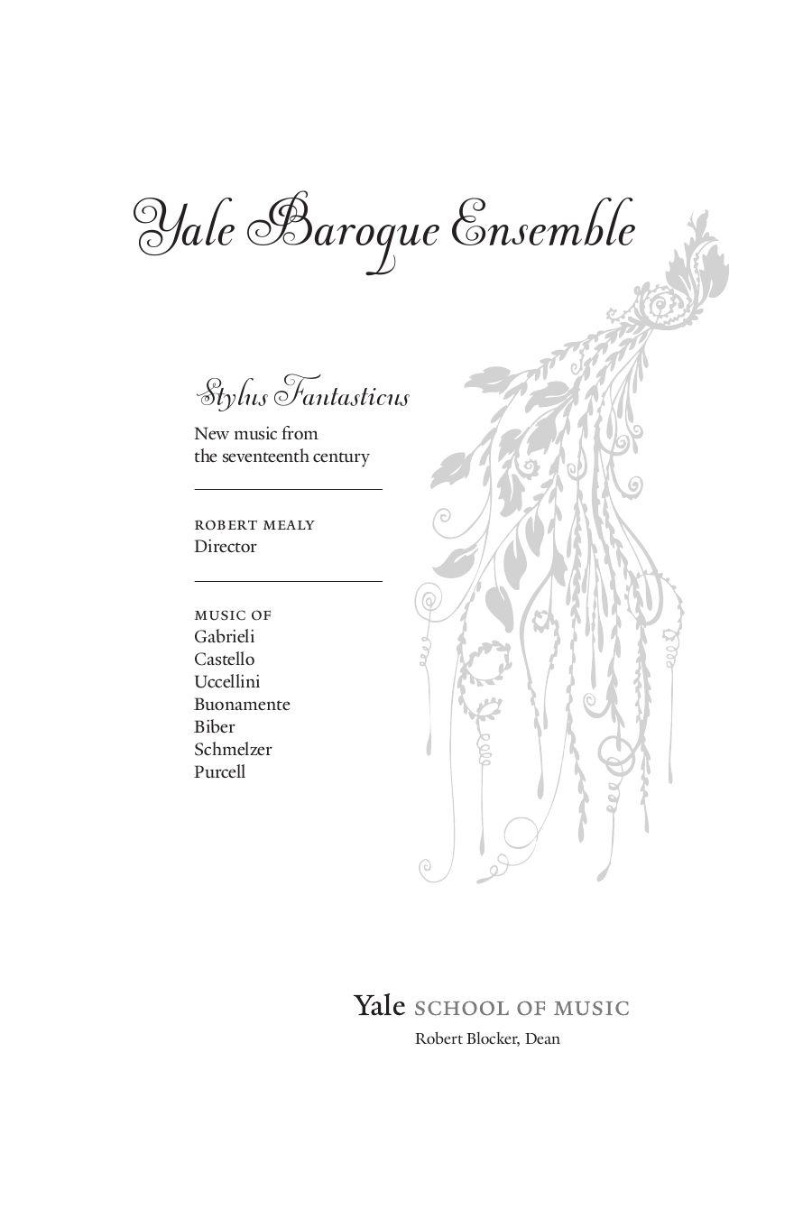 Yale Baroque Ensemble by Yale School of Music - issuu