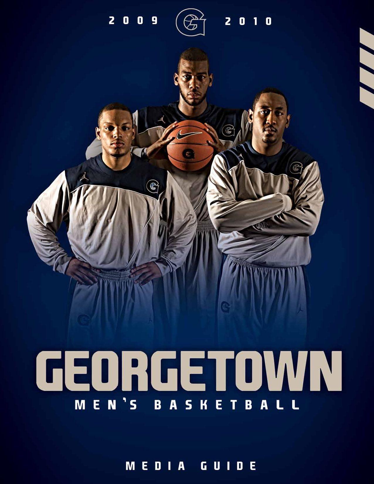 Gu Mens Basketball Media Guide By Georgetown University Athletics