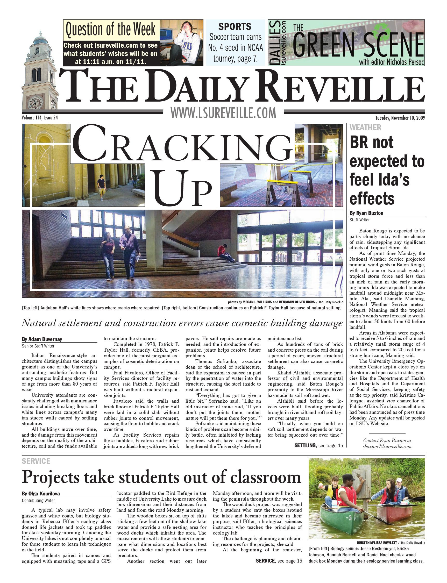 47a2f960c666 The Daily Reveille - November 10