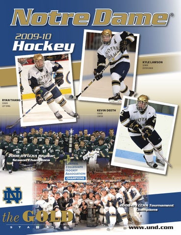 5e6ce154d58 2009-10 Notre Dame Hockey Information Guide by Chris Masters - issuu