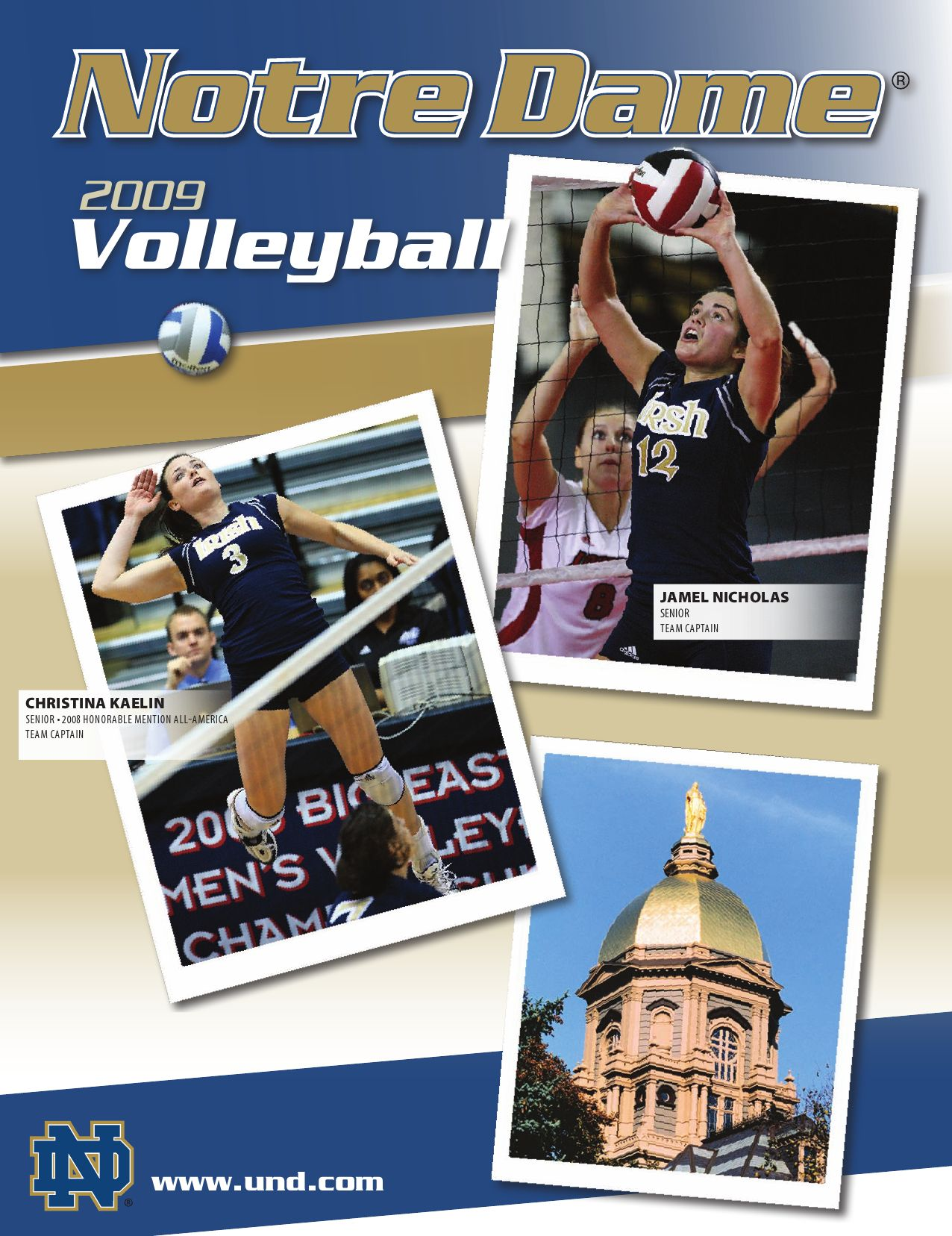 various colors 0be24 c2671 2009 Notre Dame Volleyball Information Guide by Chris Masters - issuu
