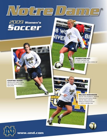 2009 Notre Dame Women s Soccer Information Guide by Chris Masters ... bb67c0520