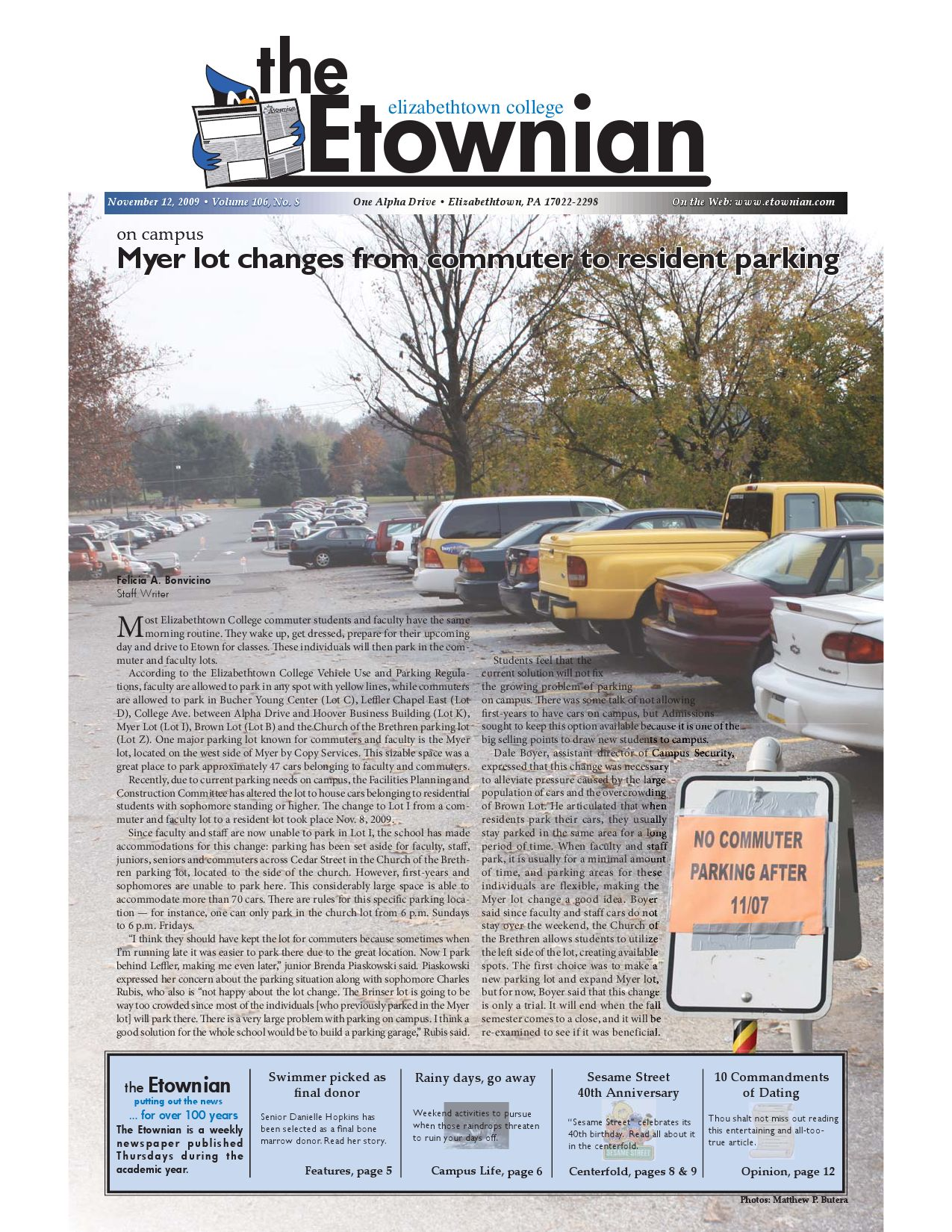 Etownian Issue 8 - November 12, 2009 by The Etownian - issuu