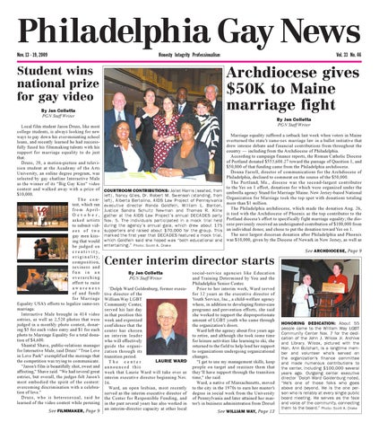 a710bf0b750 PGN June 19 - 25, 2009 edition by The Philadelphia Gay News - issuu