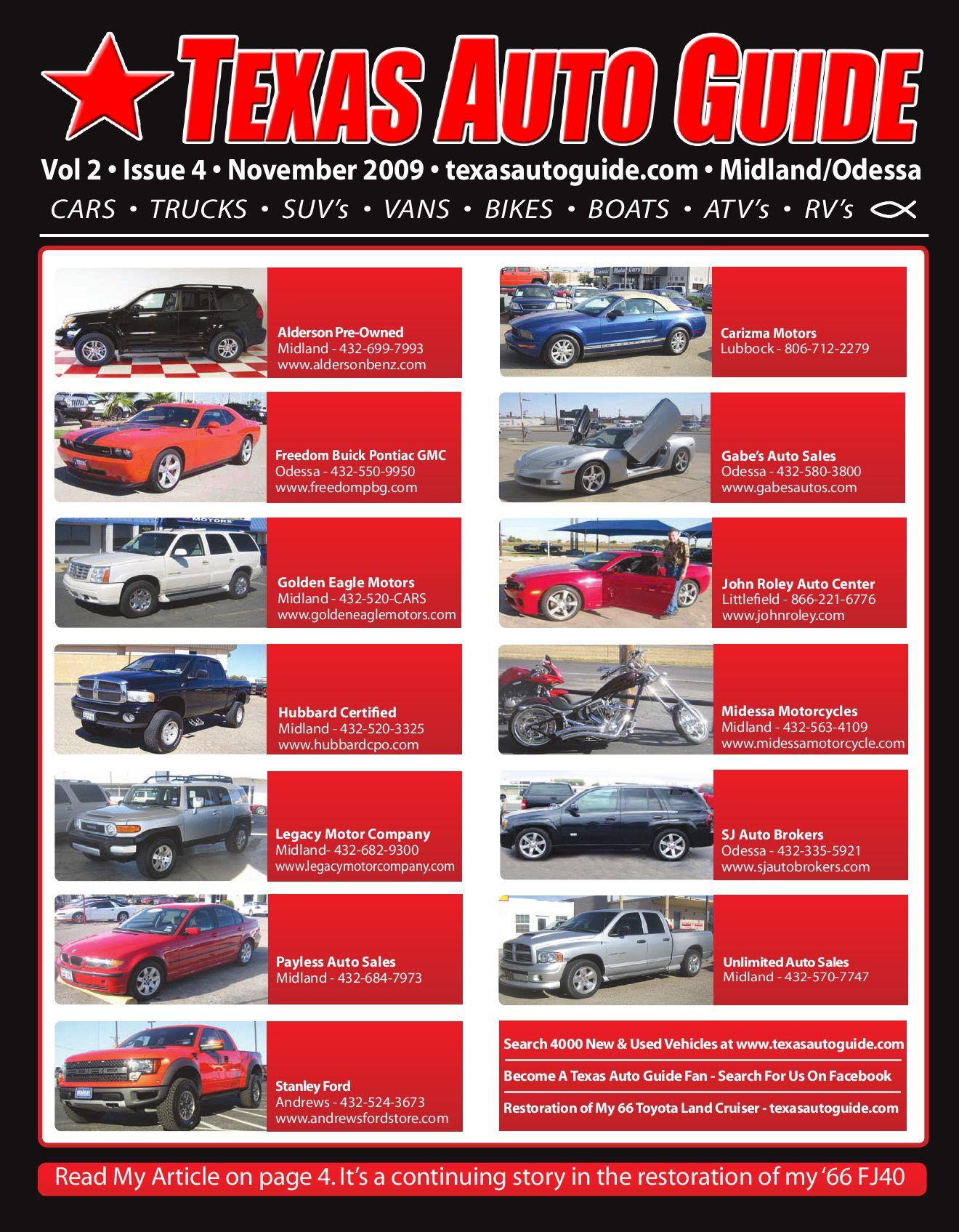 Hubbard Auto Center >> November Issue Of Texas Auto Guide Midland By Texas Auto