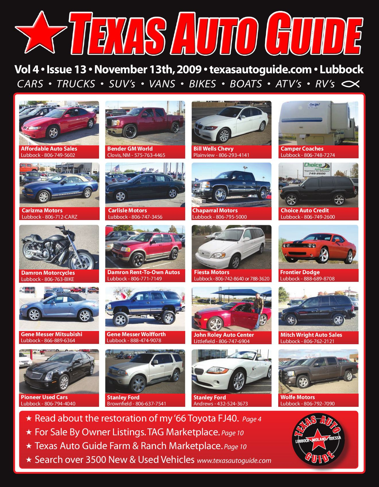 Fiesta Motors Lubbock >> November Issue Of Texas Auto Guide Lubbock By Texas Auto